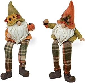 Boston International Pete & Patch Autumn Gnome Collectible Figurines