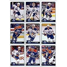 2016-17 O-Pee-Chee Hockey Edmonton Oilers Team Set of 17 Cards in Protective Snap Case: Leon Draisaitl(#25), Cam Talbot(#66), Jordan Eberle(#109), Benoit Pouliot(#129), Connor McDavid(#166), Mark Letestu(#192), Taylor Hall(#200), Andrej Sekera(#224), Ryan Nugent-Hopkins(#237), Pat Maroon(#317), Nail Yakupov(#345), Matt Hendricks(#391), Griffin Reinhart(#409), Lauri Korpikoski(#461), Brandon Davidson(#486), Darnell Nurse(#496), Oscar Klefbom(#508)
