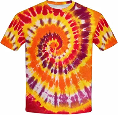 XS-XL INTERESTPRINT Kids T-Shirt Colorful Swirl