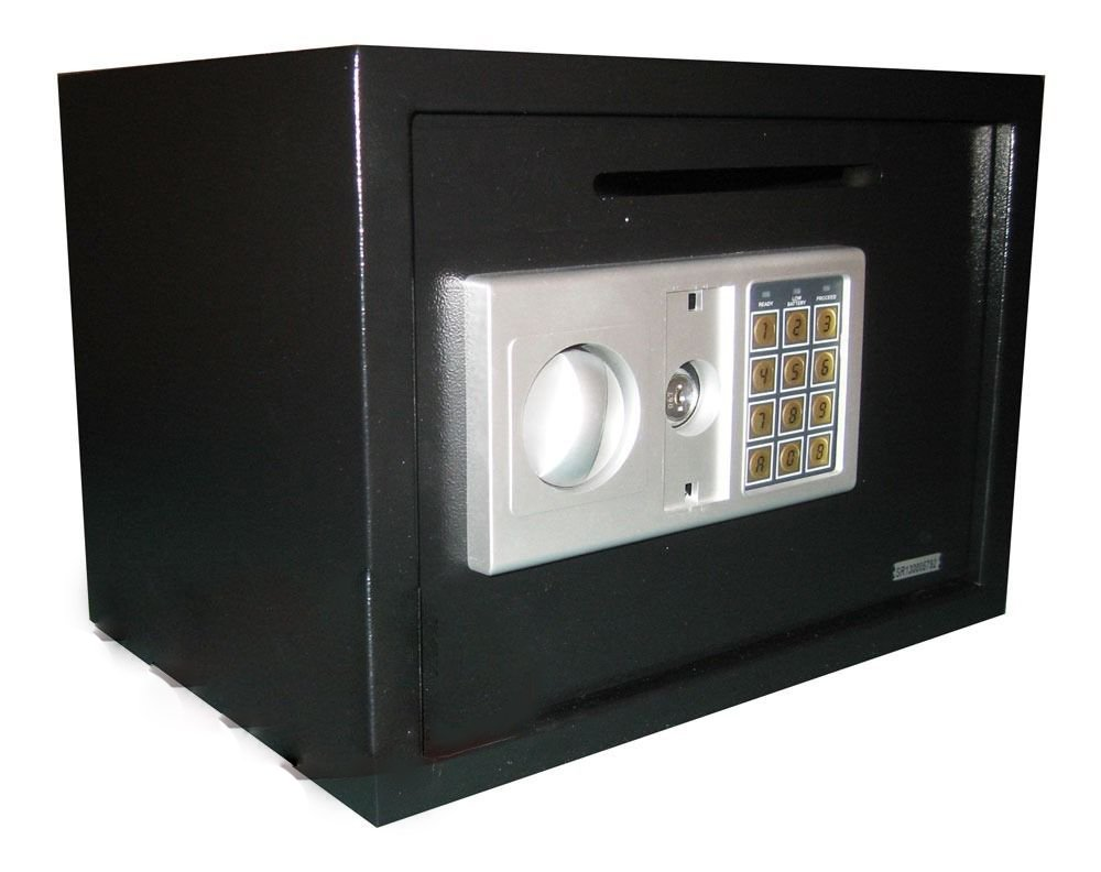 GHP Electronic Digital Depository Safe w Drop Off Cash Slot Security Vault