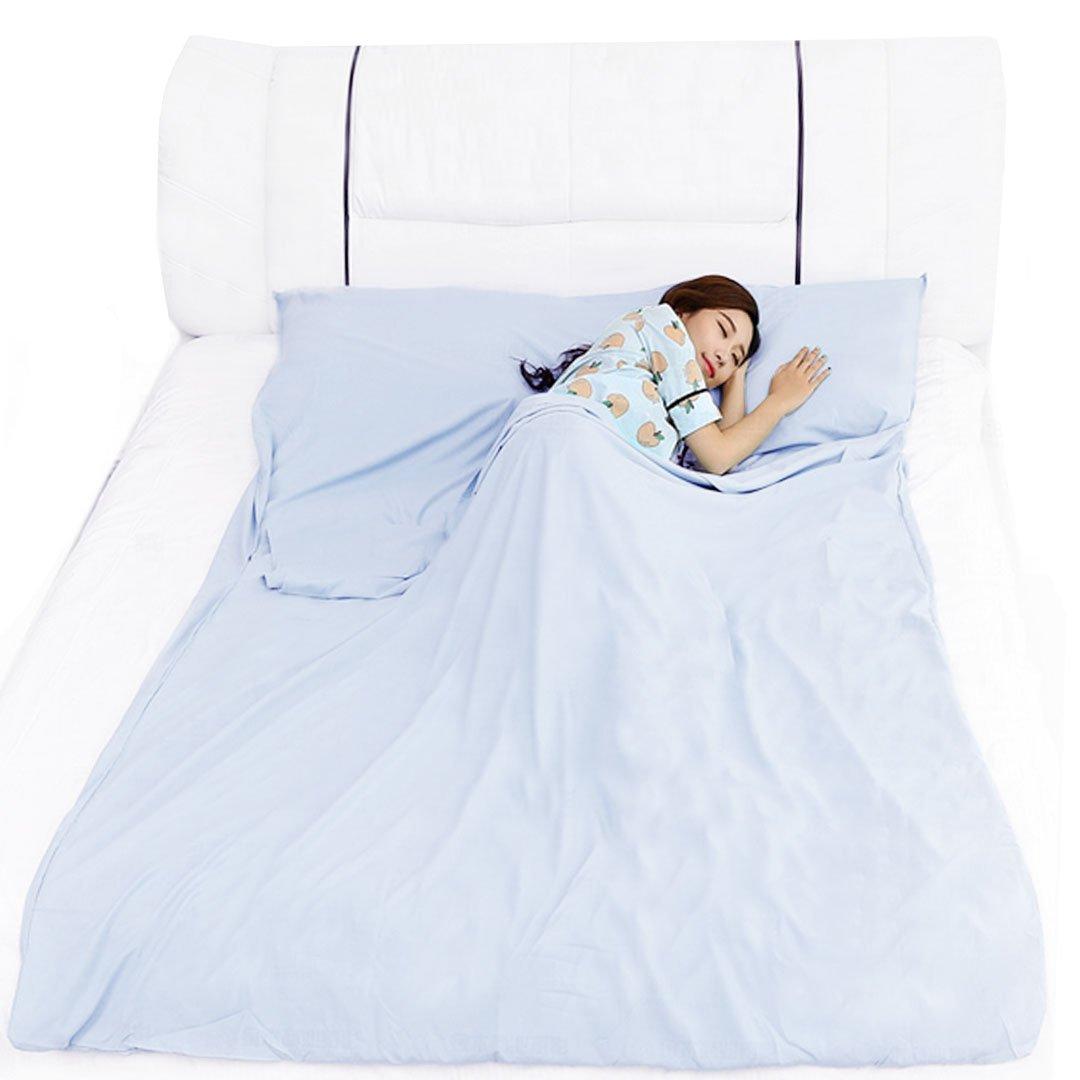 AiSi Schlafsack aus Baumwolle mit Tragetasche Hotels Gesch/äftsreisen Camping Futter universal f/ür Reisen