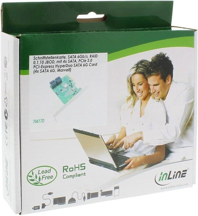 Inline 76617d Schnittstellenkarte 4x Sata 6gb Computer Zubehör