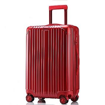 OTLLE Maleta con Ruedas, Rueda Universal, Maleta de embarque para Hombres y Mujeres, Maleta de Viaje, Cinco tamaños (Color : Red, Tamaño : 29inches): ...