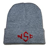 ZZZB North Carolina State Wolfpack Logo Beanie Fashion Unisex Embroidery Beanies Skullies Knitted Hats Skull Caps - Grey