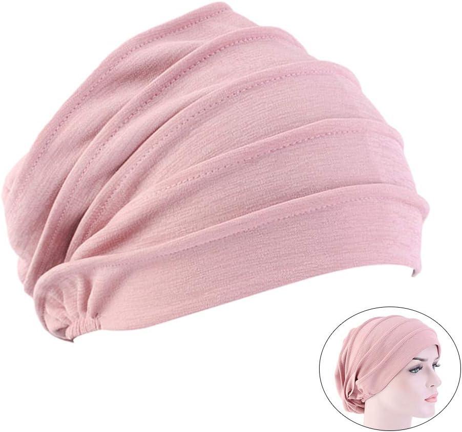 TENDYCOCO Cappello Chemioterapia Berretto di Cotone Chemioterapia Cappelli Cappello Notte da Donna Rosa