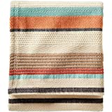 Pendleton Chimayo Stripe Cotton Blanket, Coral, Queen