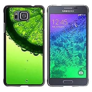 Be Good Phone Accessory // Dura Cáscara cubierta Protectora Caso Carcasa Funda de Protección para Samsung GALAXY ALPHA G850 // Water Refreshing Summer Coctail Sun