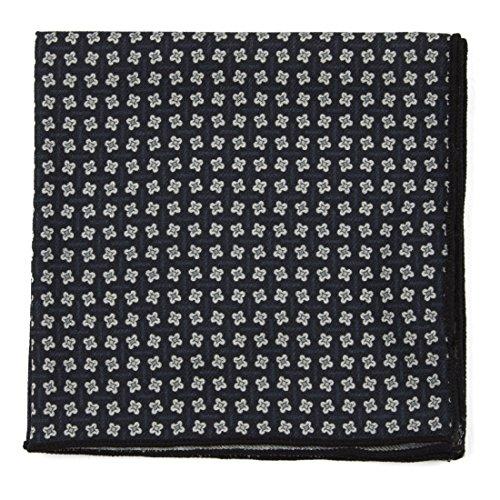 The Tie Bar 100% Printed Wool Pinwheel Print Black Pocket ()
