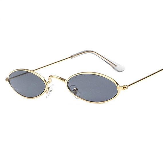 Amazon.com: Gafas de sol ovaladas para mujer, estilo vintage ...
