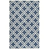 Safavieh Cambridge Collection CAM132G Handmade Navy and Ivory Wool Area Rug, 4 feet by 6 feet (4' x 6')