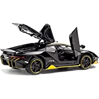 Sunvilla Diecast Metal Alloy Sports Car Model 4 Wheel Drive Pull Back car Toy with Light & Sound