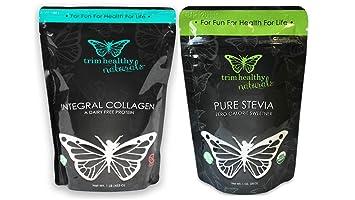 Trim Healthy Mama Integral Collagen Dairy and Pork Free Protein Powder 1 Lb & Trim Healthy
