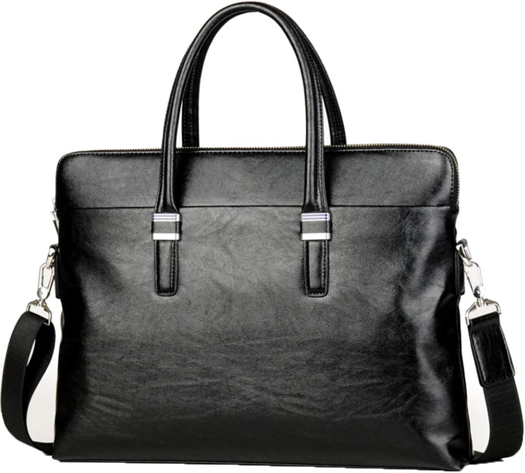 Men Briefcases TOP Leather Handbag Business Office Computer Laptop Shoulder Travel Bags Brown Set