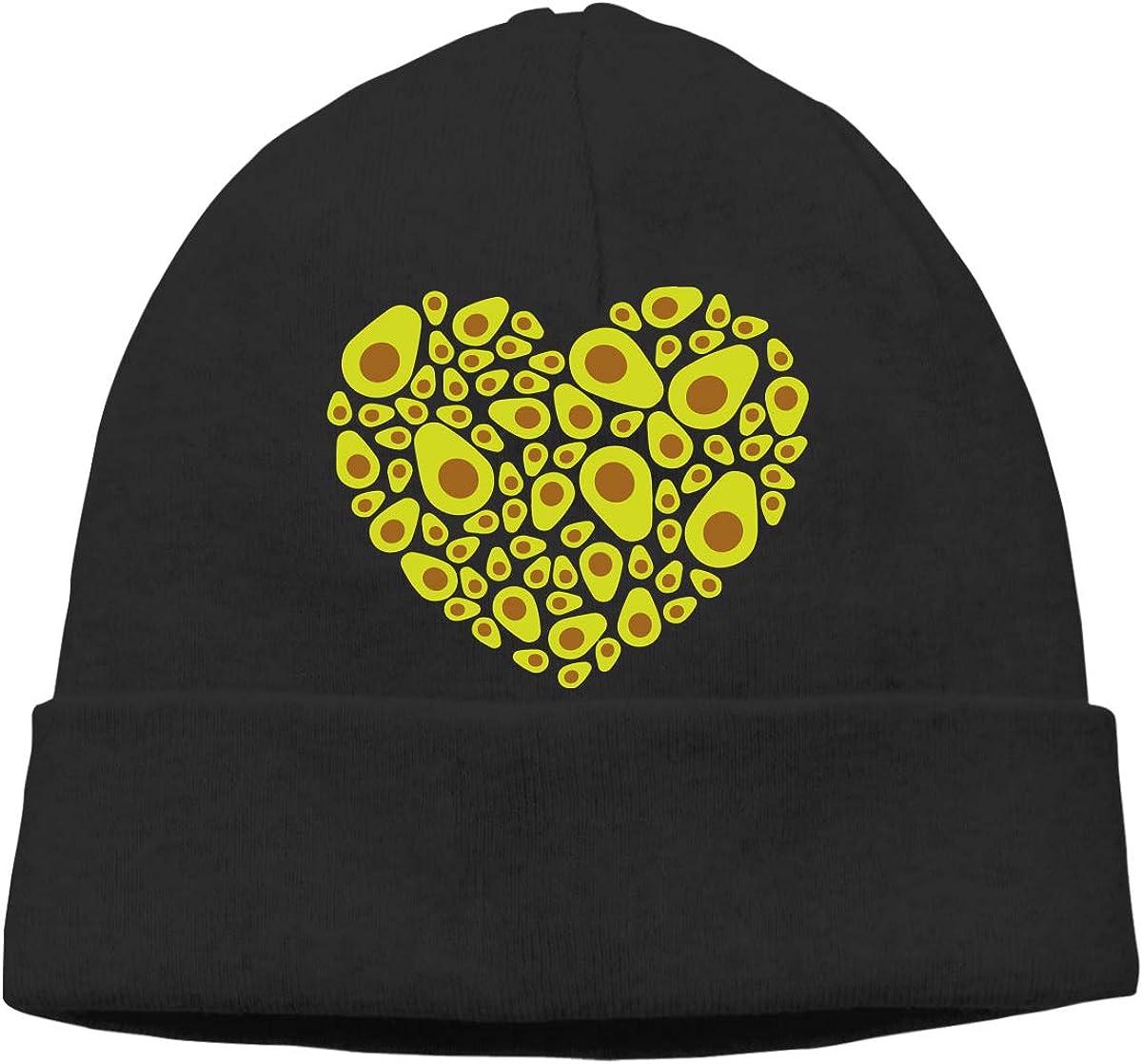 Q10 Mens/&Womens Avocado Heart Soft Beanie Hat Soft Hat