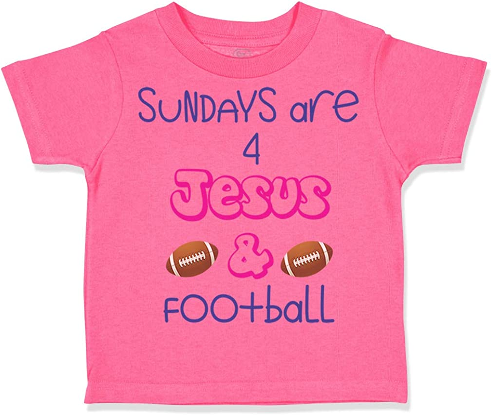 Custom Toddler T-Shirt Sundays are Jesus and Football Cotton Boy /& Girl Clothes