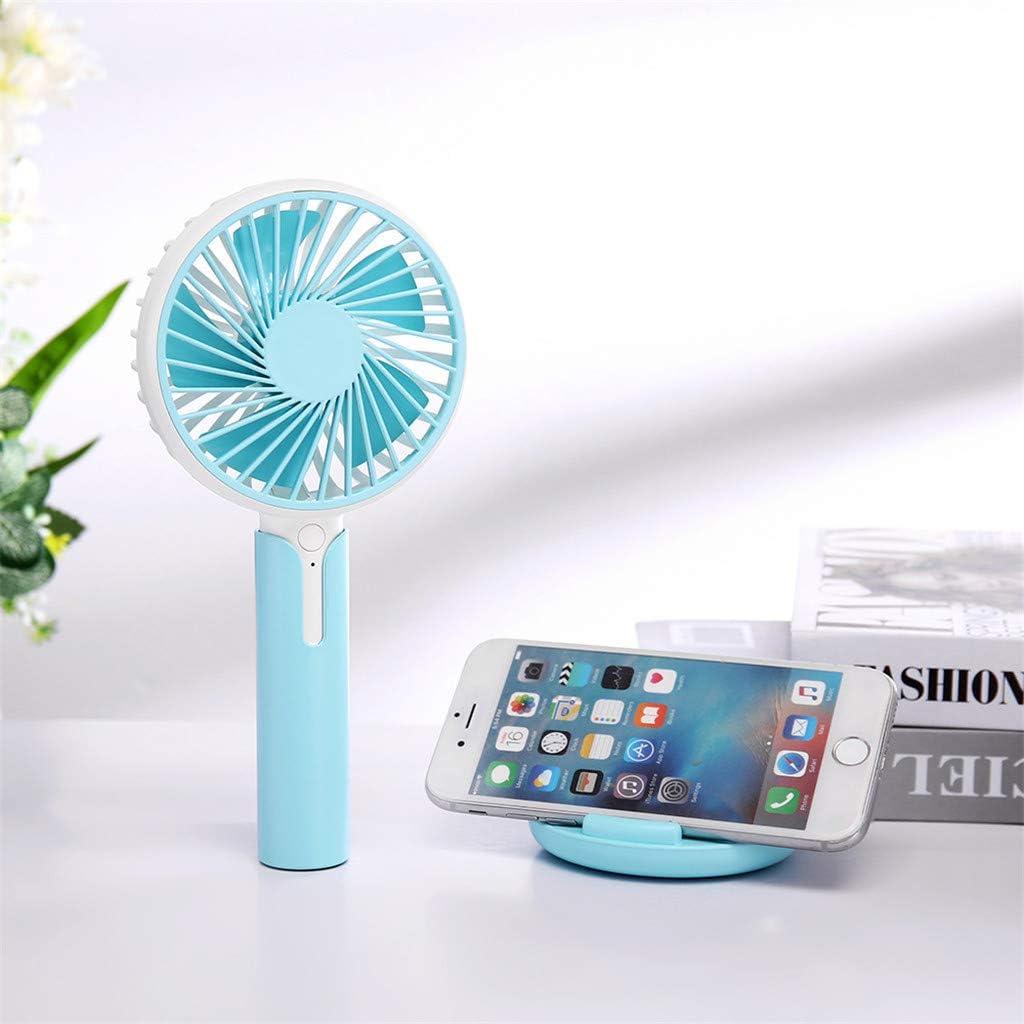 Chezaa Handheld Fan Portable Mini Fan Personal Table Fan Cooling Electric Fan with USB Charging