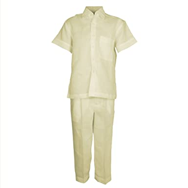 dd22a7ec71a6 Amazon.com  Mojito Kids Boys 100% Linen One Pocket Shirt and Pant ...