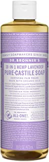 product image for Dr. Bronner's - Pure-Castile Liquid Soap (Lavender, 16 oz) - Made with Organic Oils, 18-in-1 Uses: Face, Body, Hair, Laundry, Pets & Dishes, Concentrated, Vegan, Non-GMO