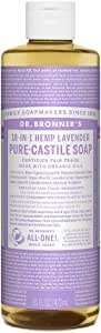 Dr. Bronner's - Pure-Castile Liquid Soap (Lavender, 16 ounce) - Made with Organic Oils, 18-in-1 Uses: Face, Body, Hair, Laundry, Pets & Dishes, Concentrated, Vegan, Non-GMO