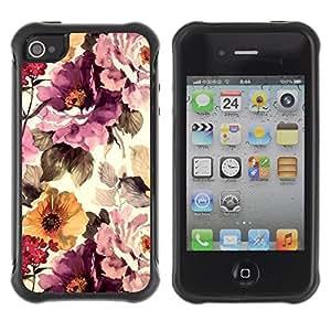 "Hypernova Defender Series TPU protection Cas Case Coque pour Apple iPhone 4 / iPhone 4S [Vintage Vignette Sol""]"