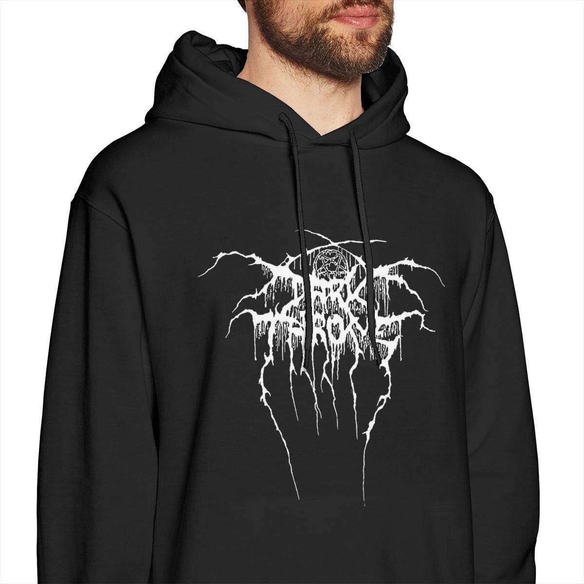 Pekivide Mens Darkthrone Comfortable Black Hoodie Sweatshirt Jacket Pullover Tops