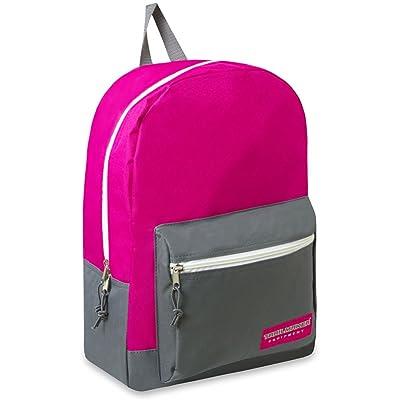 17 Inch Trailmaker Backpack Bookbag Block Pink Girls