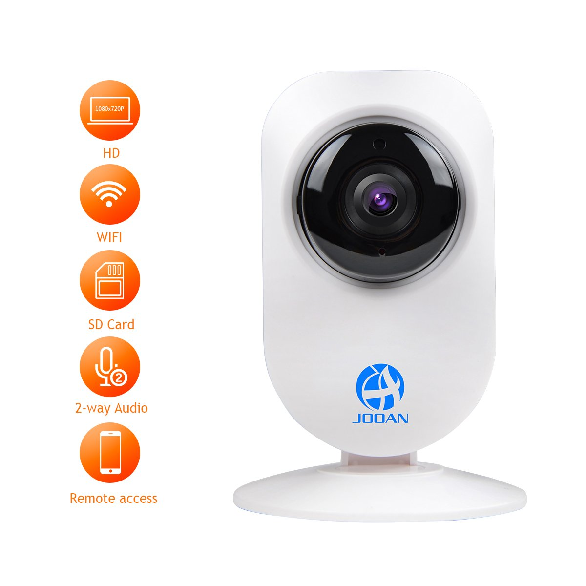 JOOAN 720P HD IP Camera WiFi Video Monitoring Supports Two Way Audio and Remote Monitoring 720P WiFi Camera Supports 2.4G WiFi Surveillance WiFi Camera