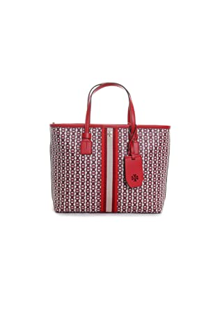 c6269d392 Amazon.com: Tory Burch Gemini Link Canvas Small Tote in Liberty Red:  Clothing