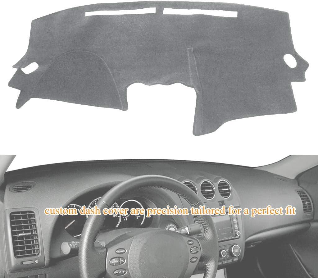 Custom Fit for Nissan Altima 2007-2012 Original Dashboard Carpet Gray MR029 YRCP Premium Dash Covers Easy Installation