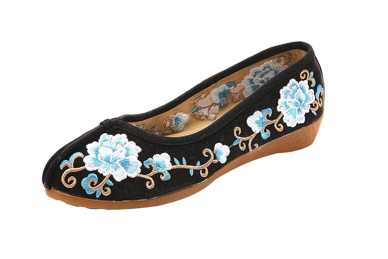 SK Studio Zapatillas Mocasín de Lona para Mujer en Estilo Chino YR37: Amazon.es: Zapatos y complementos