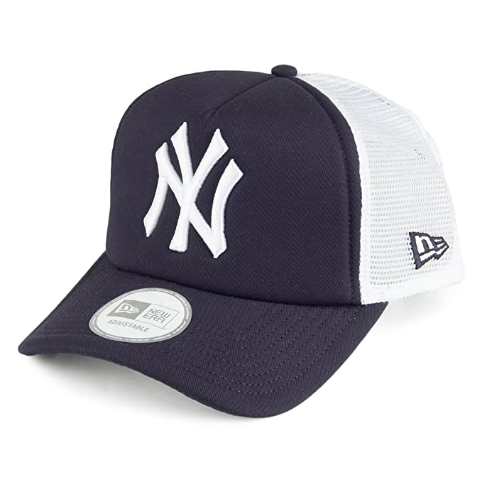 Gorra Trucker Clean Trucker New York Yankees de New Era - Azul - Ajustable: Amazon.es: Ropa y accesorios