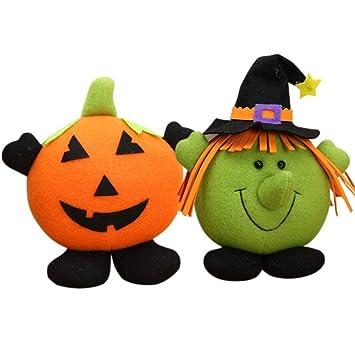 Amazon.com: ninkynonk Juego de Halloween Bruja de Calabaza ...