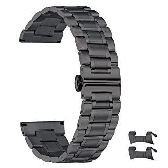 5481a20f52c 19mm Stainless Steel Watch Band for Men Women High-end 19mm Watch Band  Metal Black