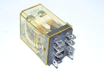 general purpose miniature relays 24VDC lot//10 DPDT RH series IDEC RH2B-U