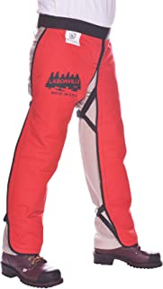 "product image for LABONVILLE Premium Chainsaw Chaps - Overall Length 32"" - Made in USA - Orange"