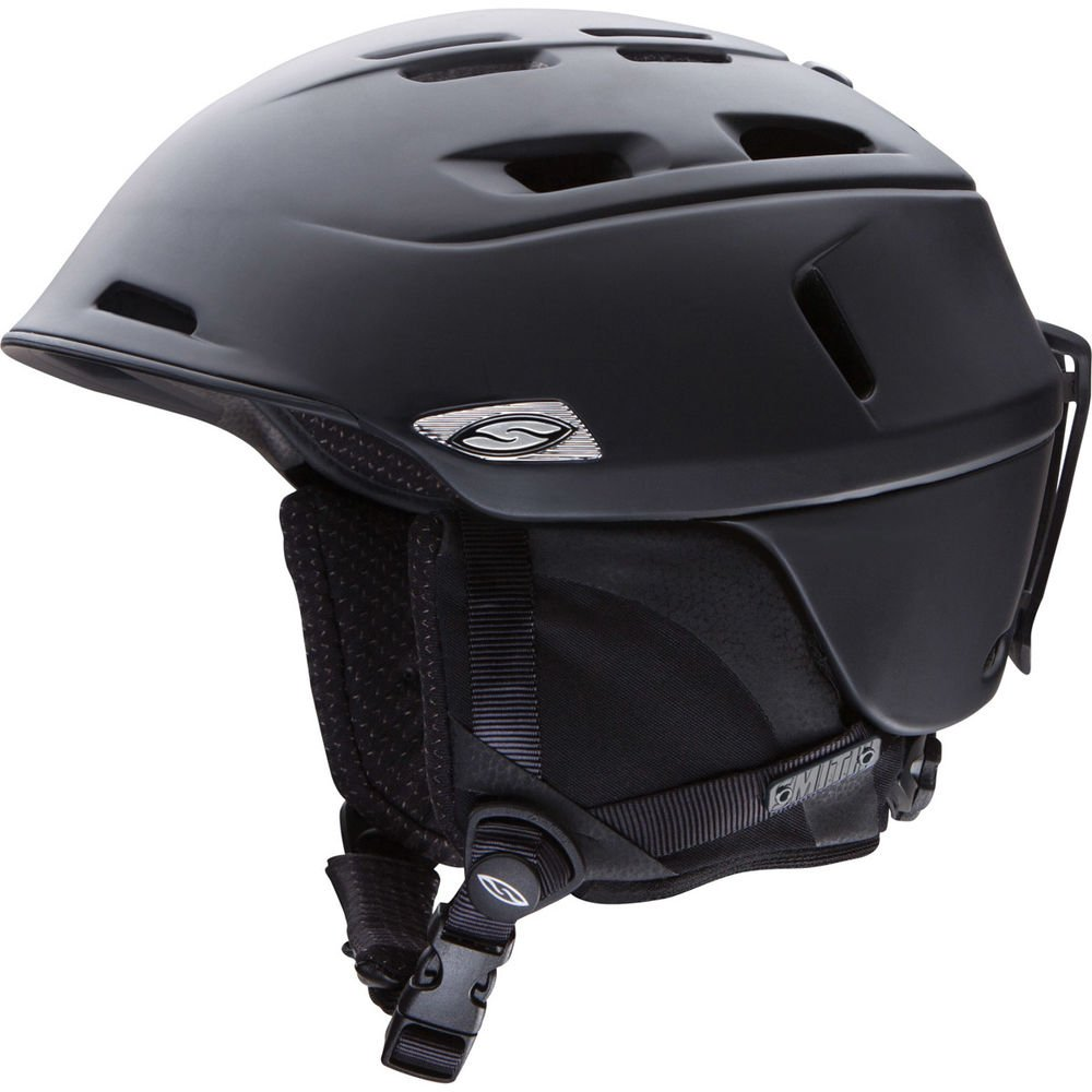 Smith Optics Unisex Adult Camber Snow Sports Helmet - Matte Black Xlarge (63-67CM) by Smith Optics