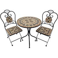 3PC Bistro Balcony Set Outdoor Use Garden Poolside Patio Table and Chairs