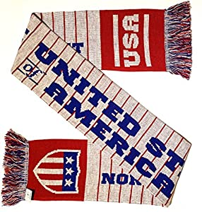 USA Soccer Knit Scarf - Matches Current Jersey Colors!