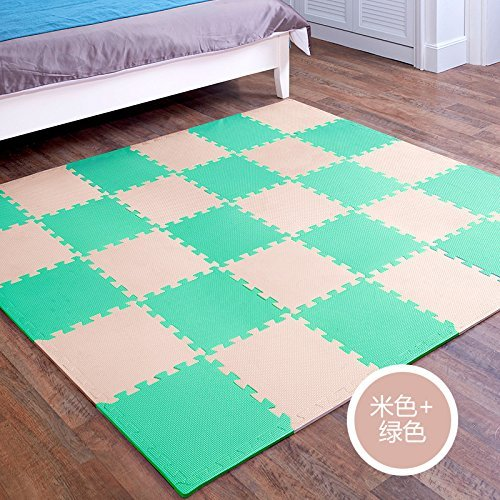 HOMEE Child Bedrooms Stitching Creeper Pad Assembly Spelling Floor Mat Thick Baby Climb up Pad Foam Rollmat Tatami,P),36 Pack