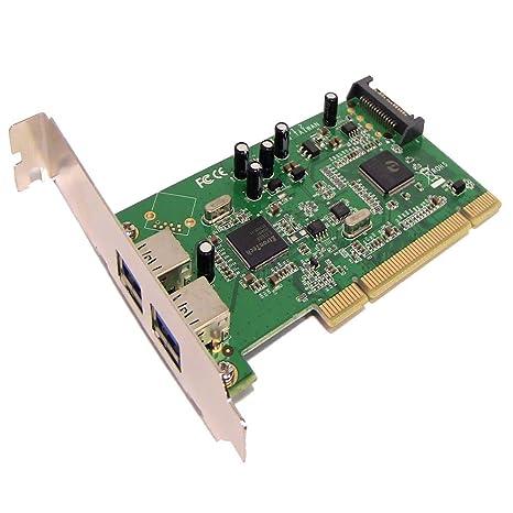 BeMatik - Tarjeta PCI a SuperSpeed USB 3.0 de 2 puertos externos