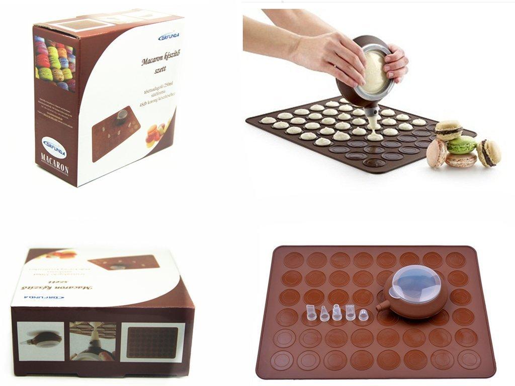 DRFUNDA Macarons set pour seringue Tapis /à Macarons moule en silicone kit anti-adh/ésive