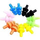 ULTNICE 6 set Silicone natation Bouchons d'oreille et Pince nez Pour les enfants et les adultes (Couleur assortie)