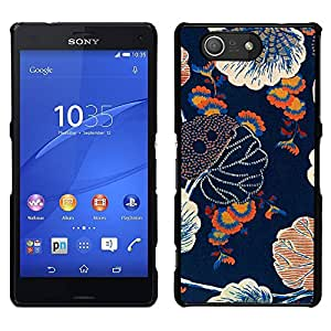 MOBMART Carcasa Funda Case Cover Armor Shell PARA Sony Xperia Z3 Compact - Colors Of The Floral Weather