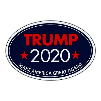 14e8efa4f4b57 Image Unavailable. Image not available for. Color  Oval Shaped Sticker -  Trump 2020 - Make America Great Again ...