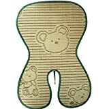 """Fairy Baby Folding Summer Child Safety Seat Mat Natural Bamboo Buggy Pad Brown,Size 7""""Wx15""""L"""