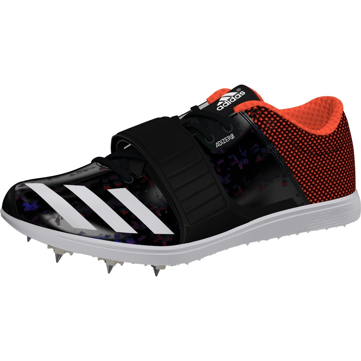adidas Adizero Tj/Pv Running Shoe, Core Black, FTWR White, Orange, 10.5 M US