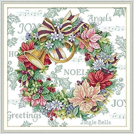 Berry 20/×31CM Joy Sunday Cross Stitch Kit 14CT Stamped Embroidery Kits Precise Printed Needlework