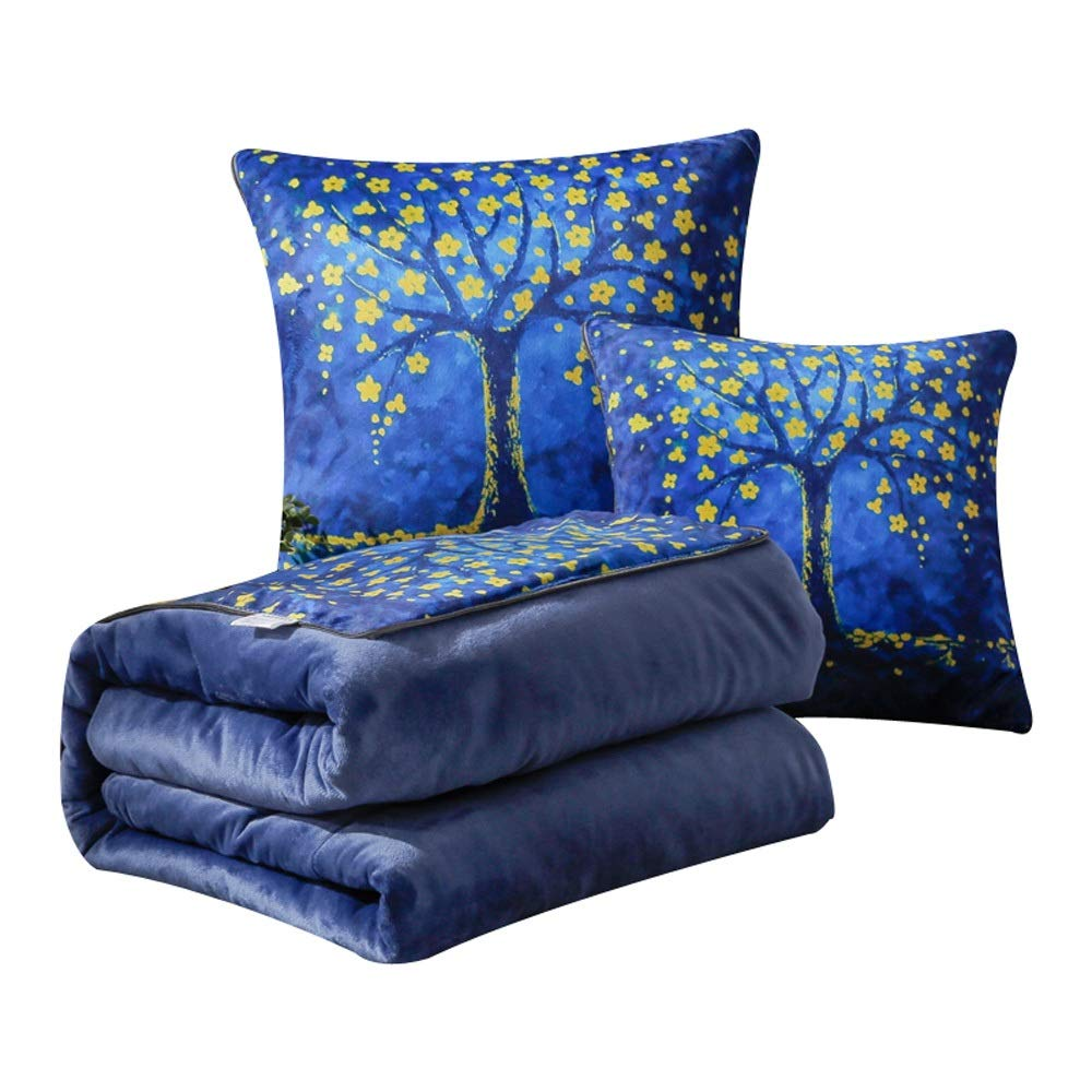 Sunny Lingt Folding Car Decoration Square Pillow Quilt Dual-use Car Cushion for Living Room Sofa Bedroom Office with Invisible Zipper 1 Piece with Pillow Core (40 X 40cm) (Size : 50X50)