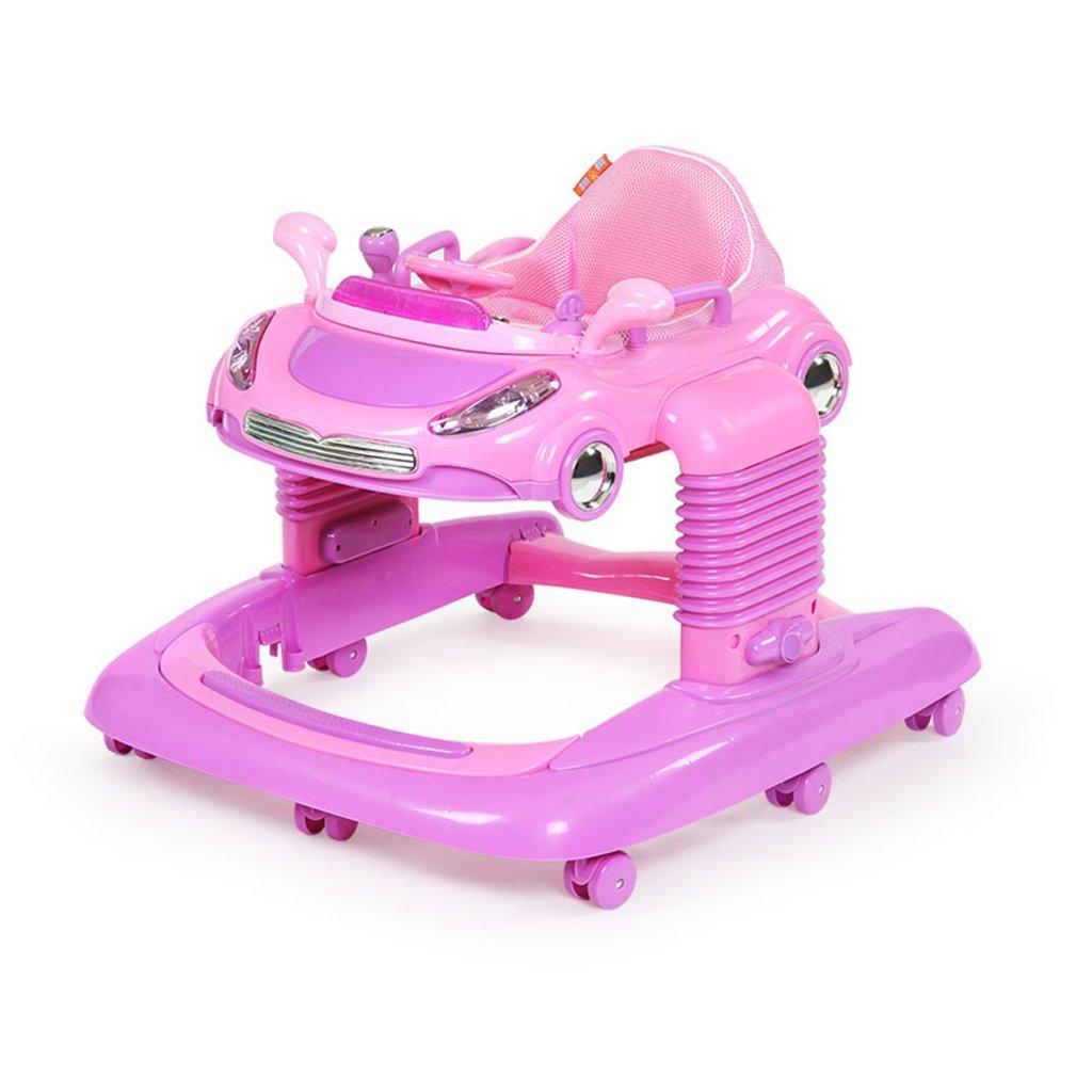 HAIZHEN マウンテンバイク 赤ちゃんウォーカー6/7-18ヶ月アンチロールオーバー第3ギア調整ダンピングバウンス機能押し込み可能なベビーキャリッジを振ることができます77 * 67 * 58センチメートル 新生児 B07DMQB8NW3