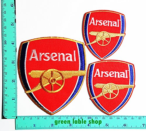 [New Set Arsenal F.c. Football Club Fc Logo Football Patch Logo Sew Iron on Embroidered Appliques Badge Sign] (Costumes F)